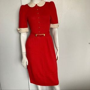 Vintage St John Santana Knit Dress belted